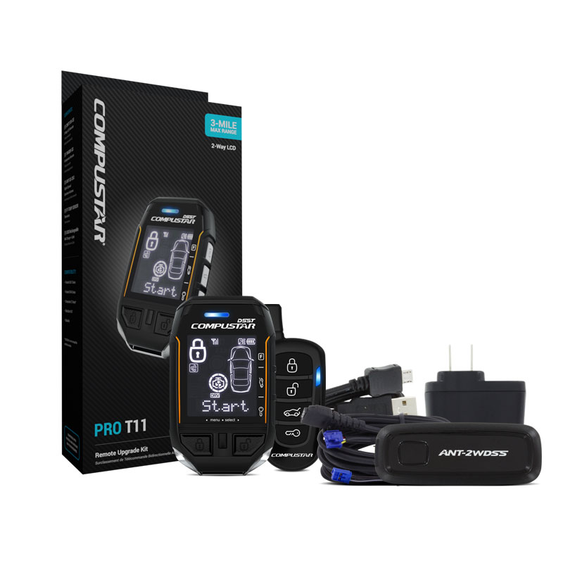 3-mile max range, USB rechargeable, waterproof remote kit. Includes additional backup 1-way remote.