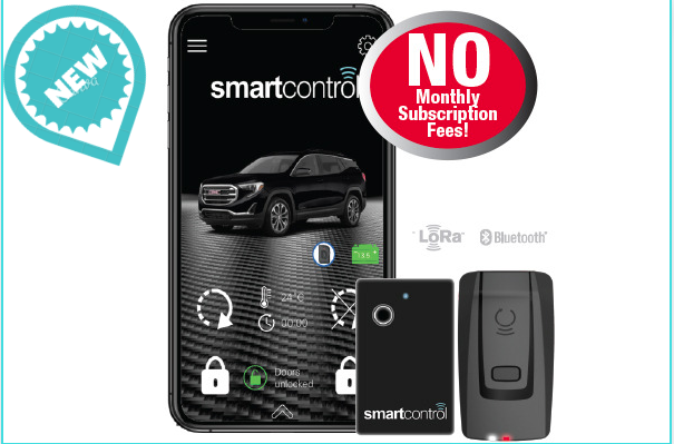 SamrtControl RFK 6000  <br> Smartphone bluetooth control, 1.5-mile range, included 1 credit card size LED 2-way remote.
